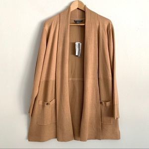 NWT Chelsea & Theodore Open Long Cardigan 1X